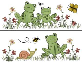 FROG FROGGY BABY NURSERY WALL BORDER STICKERS DECALS