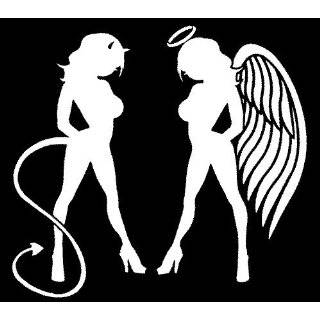 Skin Angel Devil Girl Sticker (Decal) #1   10.5