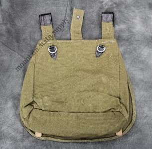 WWII German Army Soldiers Canvas Bread Bag Sack & Sling Strap
