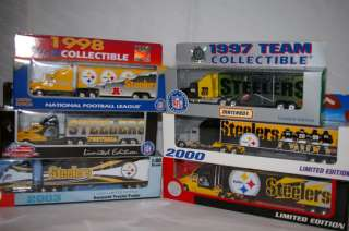 NEW NFL PITTSBURGH STEELERS Die cast Truck Trailer Collectibles 1998