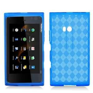 BLUE PLAID Soft TPU Gel Case Cover For Nokia Lumia 900 (AT