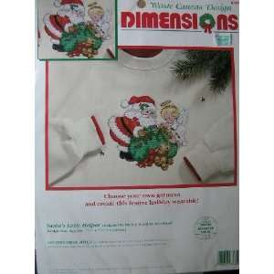 Christmas Waste Canvas Counted Cross Stitch Kit Arts, Crafts & Sewing