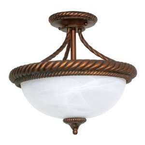Nuvo Lighting Semi Flush 60 028 Tet A Tet Traditional Close to Ceiling