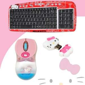 81409 + Hello Kitty 2 GB USB Flash Drive (Pink/White) #46009 DavisMAX