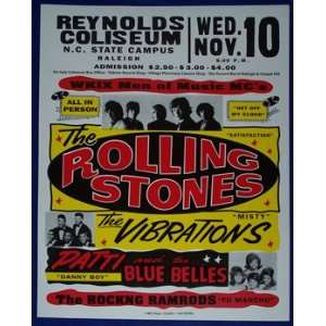 Rolling Stones 1965 Concert Poster