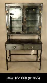 Age Style Metal Display Cabinet With Glass Shelves (01865)n.