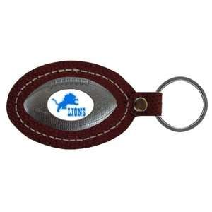 Detroit Lions NFL Leather Football Key Tag