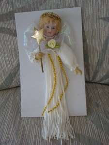 KURT ADLER ANGEL TASSEL DOLL ORNAMENT new