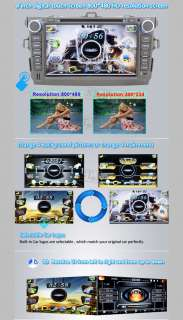Din 8Car DVD GPS NAV Radio Stereo For Toyota Corolla 2007 2008 2009