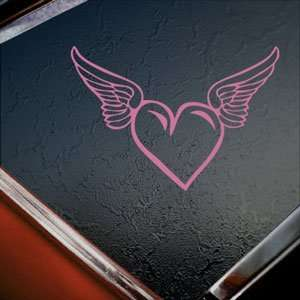 Heart With Wings Pink Decal Car Truck Window Pink Sticker