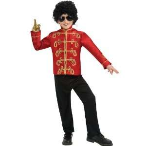 Michael Jackson Red Military Jacket Deluxe Child Small 4 6