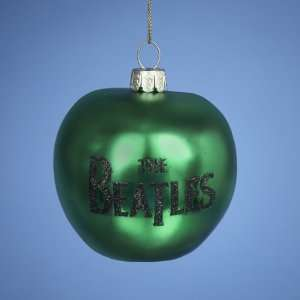 Pack of 6 The Beatles Green Apple Glass Christmas