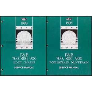 Ford F700 F800 FT900 B700 Truck Repair Shop Manual Set Ford Books