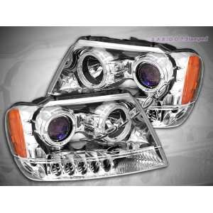 Jeep Grand Cherokee Headlights Chrome Halo Pro LED Headlights 1999