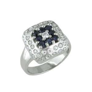 Ashelyn   size 13.50 14K White Gold Sapphire & Diamond