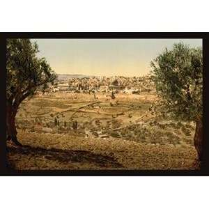 Paper poster printed on 12 x 18 stock. View from the Mount of Olives