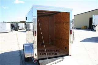 Enclosed Cargo Motorcycle Trailer Ramp & Side Door w/ Color