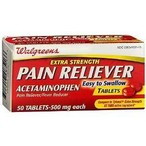 Extra Strength Pain Reliever Tablets, 50 ea