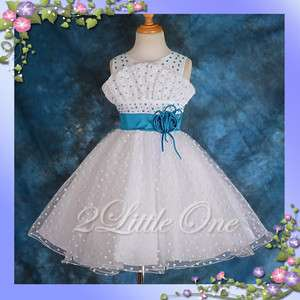 Flower Girl Wedding Pageant Party Princess Dresses Toddler Princess Sz