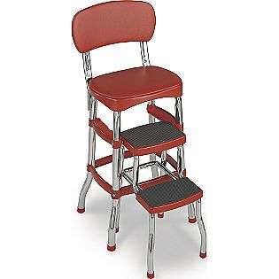 Retro Chair/Step Stool   Red  Cosco Home and Office Products Tools