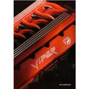 1993 DODGE VIPER Sales Brochure Literature Book Piece