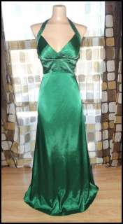 Vintage 90s 30s Unique Shamrock GREEN BOMBSHELL Gown Prom Dress HARLOW