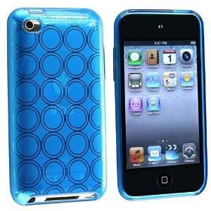 Compatible With Apple® iPod touch® 4th Gen, Clear Light Blue Circle