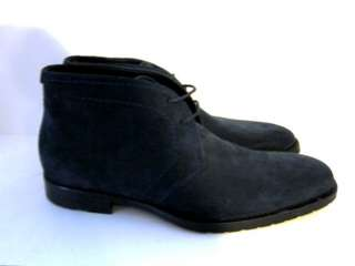 Boss Clenno Dark Blue Suede Mens Ankle Boots Shoes 12 EU 45 New
