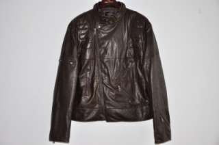 Ralph Lauren BLACK LABEL Leather Moto Bomber Jacket XXL