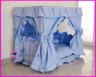 Handmade Princess Pet Dog Cat Bed House + 1 Candy Pillow