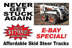 New Holland Skid Steer Tracks for a LS170 Fits 10x16.5 Tires Free
