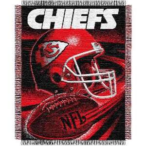 Kansas City Chiefs Triple Woven Jacquard NFL Throw (Spiral Series) by