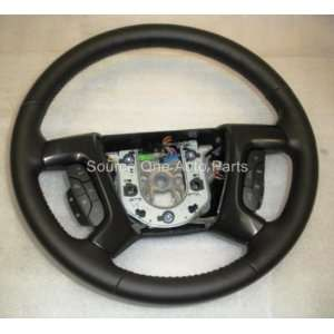 2009 GENUINE HUMMER H2 BLACK LEATHER STEERING WHEEL
