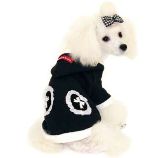 COAT LOVELY BEBE dog clothes hooded jacket PUPPY ZZANG
