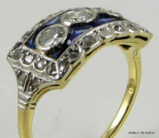 ANTIQUE ART DECO DIAMOND AND SAPPHIRE RING JEWELRY