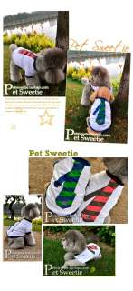 Cute Pet Dog Clothes Tie Style Cotton T Shirt S M L