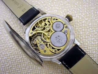 OMEGA CHRONOMETER SKELETON ART DECO GOLD ANTIQUE SWISS SILVER HIGH