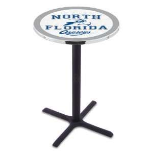 42 University of North Florida Bar Height Pub Table   Cross Legs