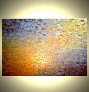 ORIGINAL Gold ABSTRACT Art Metallic Textured Painting