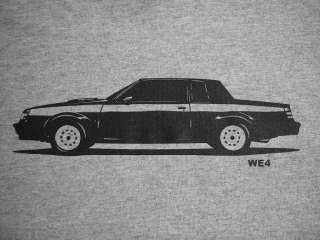1987 BUICK WE4 t shirt, grand national, gnx, t type