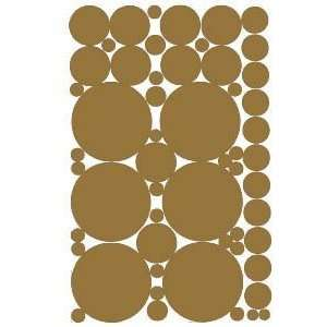 Brown Vinyl Polka Dots Wall Decor Decals Stickers