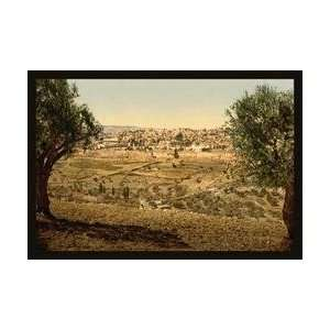 View from the Mount of Olives 12x18 Giclee on canvas