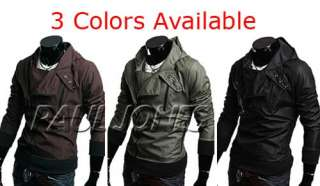 PJ Mens Korea Slim Fit Jacket Coats Hoody Good XS S M L