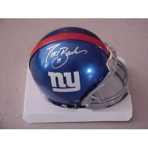 Hand Signed Autographed New York Giants Riddell Football Mini Helmet