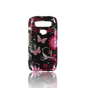 BlackBerry Storm 3 9570 Graphic Case   Pink Butterfly