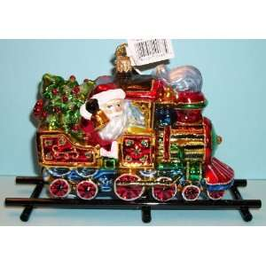 Kurt Adler Polonaise Ornament Santa Claus on Train