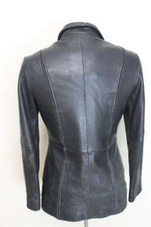 DANIER VINTAGE WOMENS RETRO BOMBER LEATHER JACKET S.