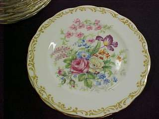 Royal Albert Bone China Nosegay Set 12 Bread Plates