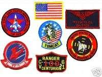 TOP GUN MAVERICKS FLIGHT SUIT FANCY DRESS 7 PATCH SET