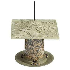 Cardinal Tube Bird Feeder 6   Verdigris Patio, Lawn & Garden